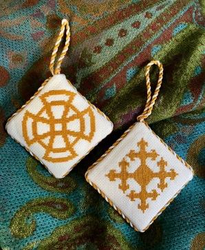 Trinity Cross crosstich ornaments.