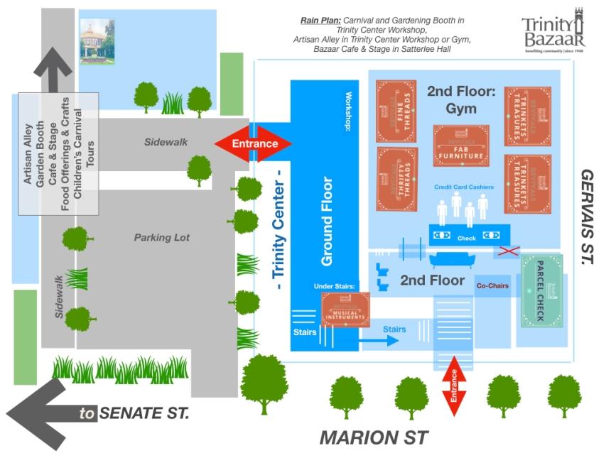 Trinity Bazaar Map 2 - Trinity Center